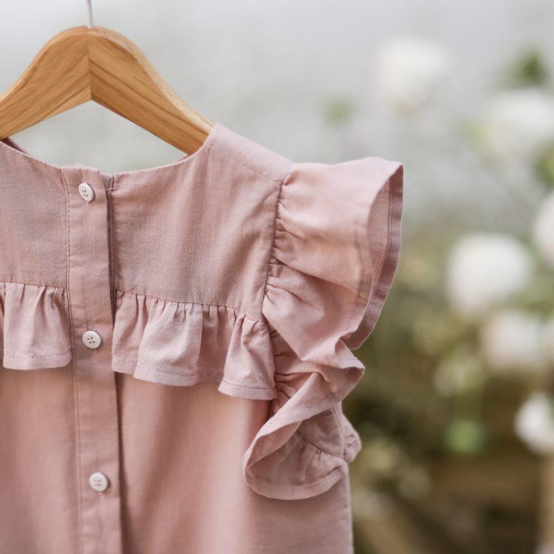 vestido volantes algodon organico