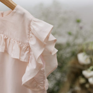 blusa volantes algodon organico